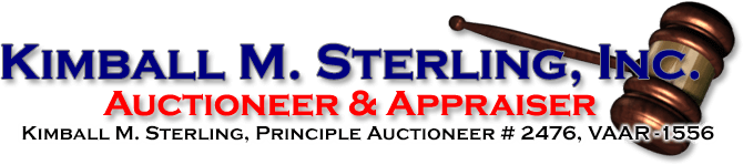Kimball M. Sterling, Inc. - Auctioneer and Appraiser - TFL-1915